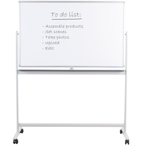 "CART-WB48A <br><br>48"" x 32"" Mobile Double Sided Whiteboard"
