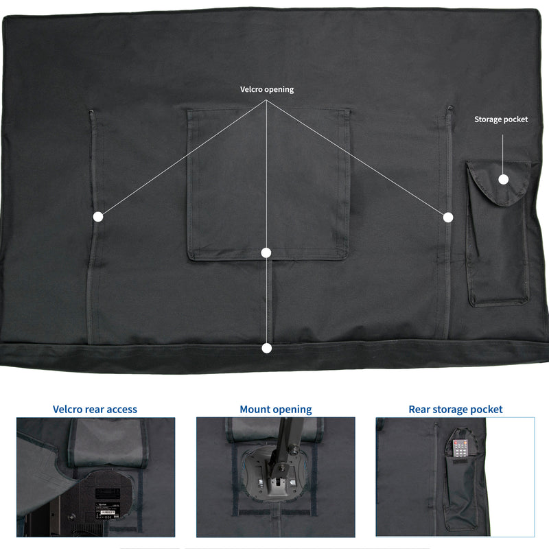 "COVER-TV040B <br><br>Black 40"" to 42"" Flat Screen TV Cover Protector"