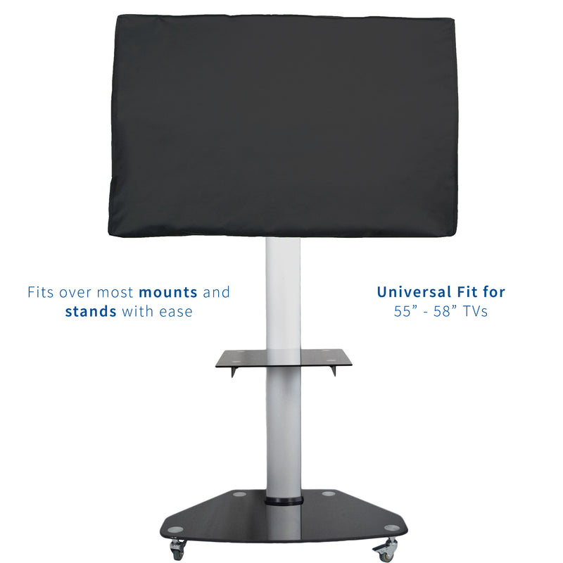 Black Flat Screen TV Cover Protector