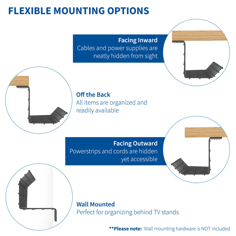 Under Desk Cable Management Racks flexible mounting options