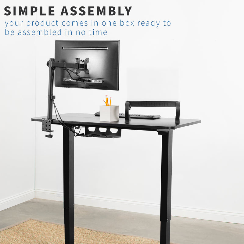 Black Electric Desk simple assembly