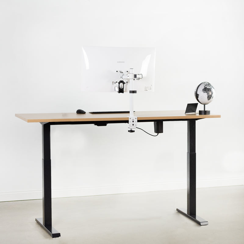Black Compact height adjustable desk