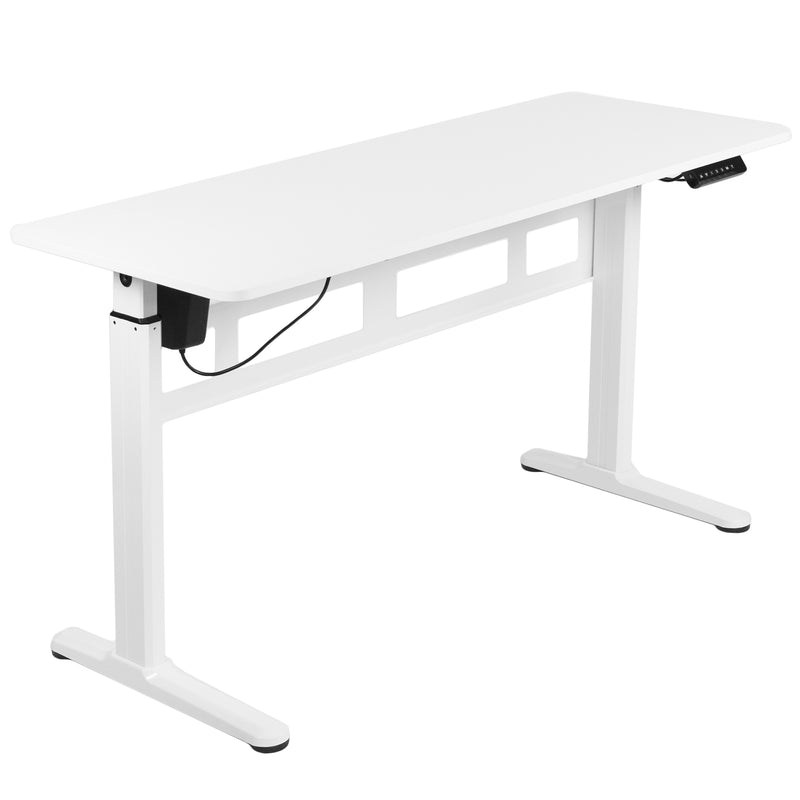 "DESK-E155TW<br><br>White 55"" x 24"" Electric Desk"
