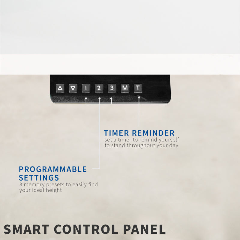 White Electric Desk smart control panel