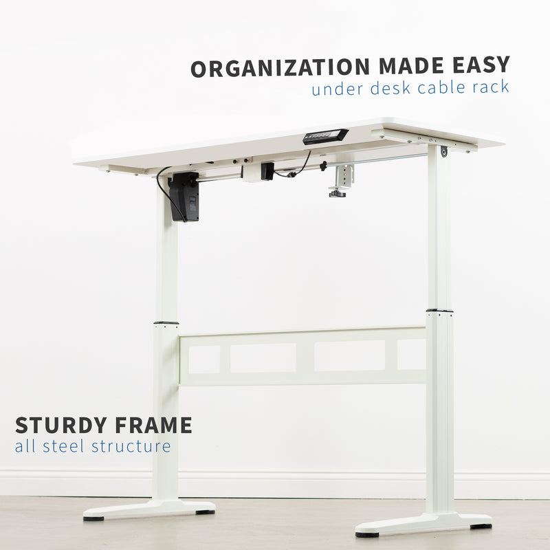 White Electric Desk