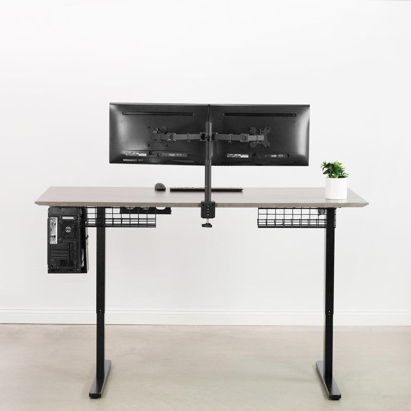 Black Electric height adjustable desk