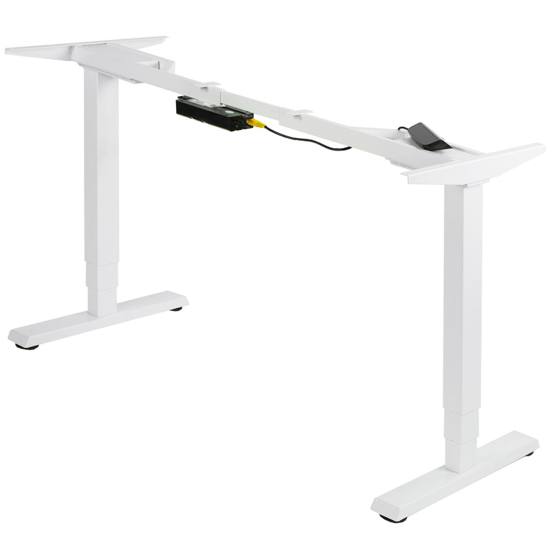 White Electric Dual Motor Desk Frame