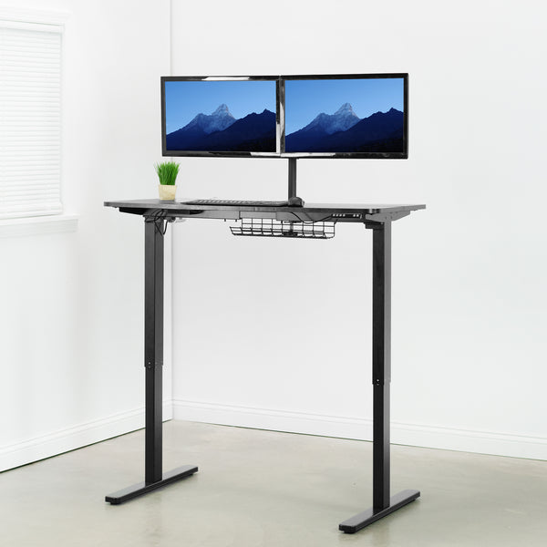 Black height adjustable Electric Desk