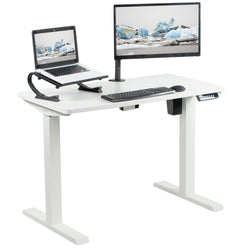 "White 43"" x 24"" Electric Desk"