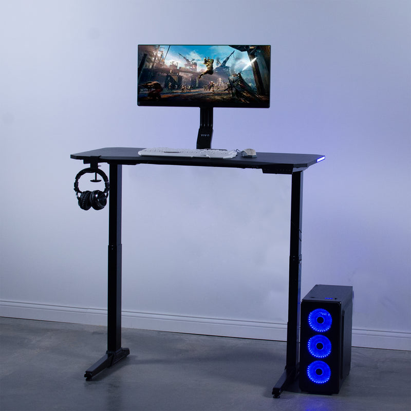 Electric Gaming Desk with LED Lights
