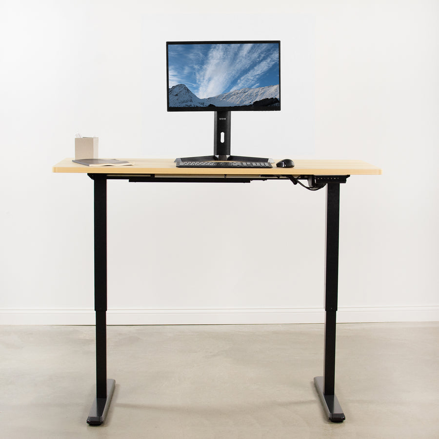 DESK-KIT-1B6C <br><br>Light Wood / Black 60