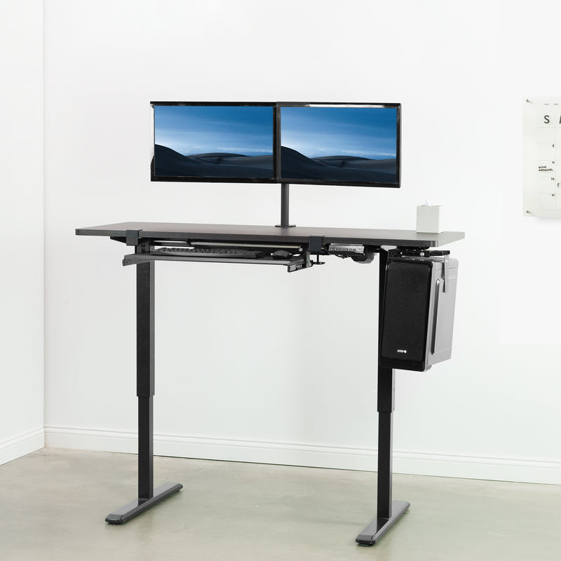 espresso black height adjustable desk