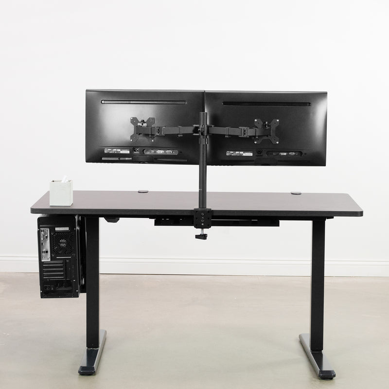 "DESK-KIT-1B6E<br><br>Espresso / Black 60"" x 24"" Electric Desk"