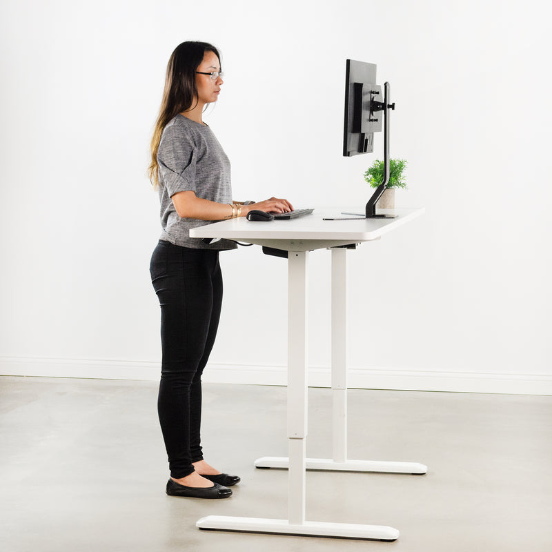 "DESK-KIT-1W6W<br><br>White 60"" x 24"" Electric Desk"