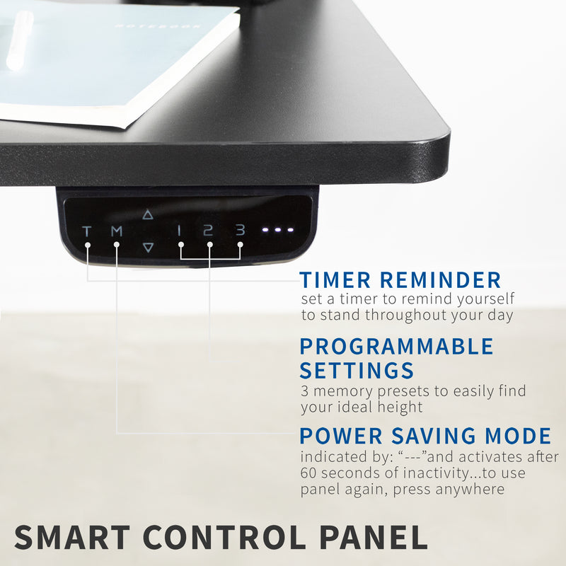 "Black 60"" x 24"" Electric height adjustable Desk"
