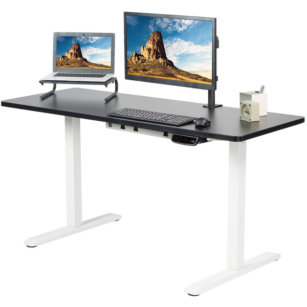 "Black / White 60"" x 24"" Electric Desk"