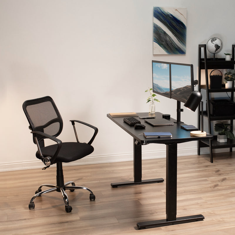 "DESK-KIT-B06B<br><br>60"" x 24"" Electric Desk with Black Frame"