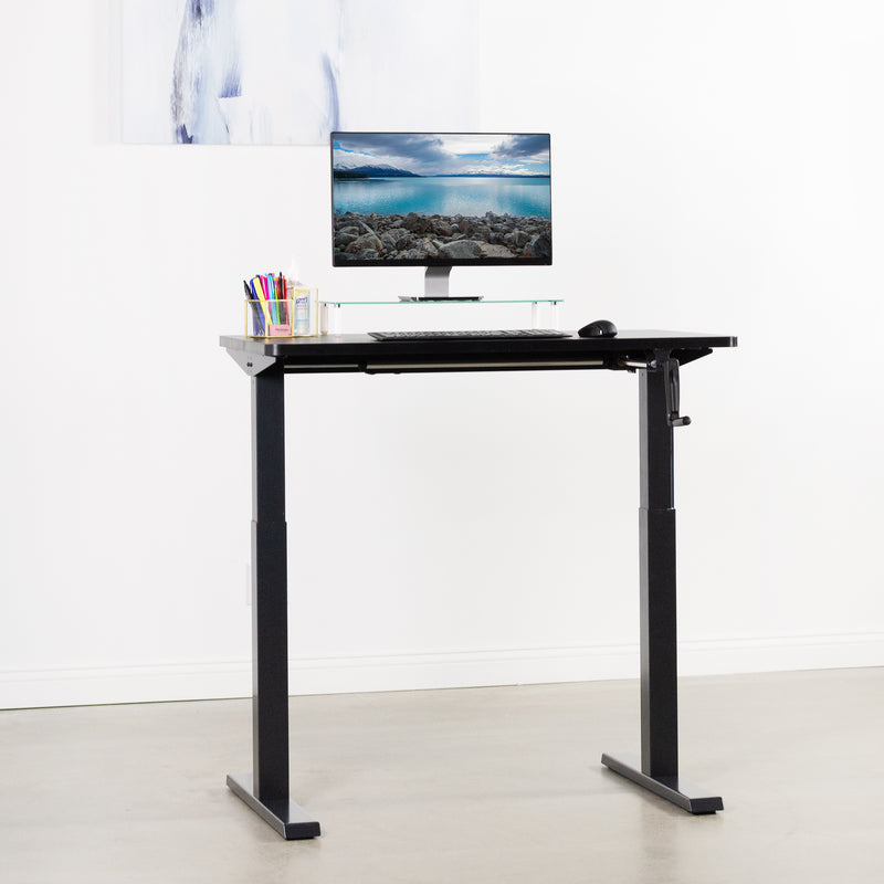 "DESK-KIT-MB4B<br><br>43"" x 24"" Manual Height Adjustable Desk"