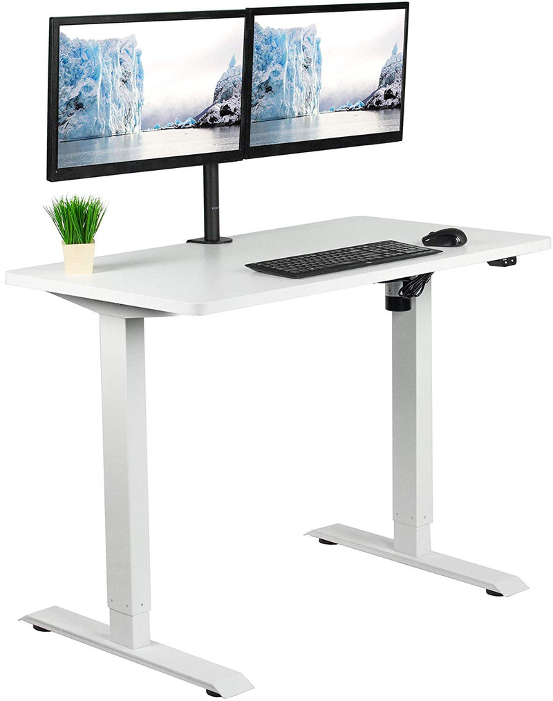 "DESK-KIT-W04W<br><br>White 43"" x 24"" Electric Desk"