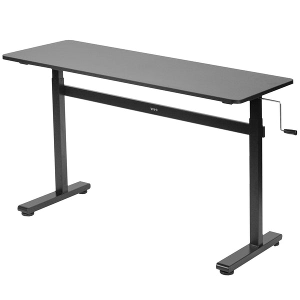 "Black Crank Height Adjustable 55"" Desk"
