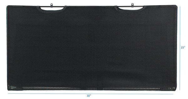 "DESK-SKIRT-30 <br><br><span style=font-weight:normal;> Black Under Desk Privacy & Cable Management Organizer Sleeve Wire Hider Kit Panel System - 30"" Length</span>"