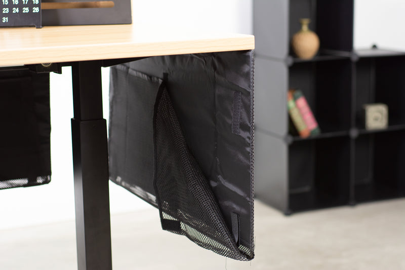 "DESK-SKIRT-30 <br><br>Black 30"" Cable Management Desk Organizer"