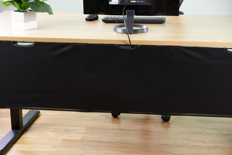 "DESK-SKIRT-60 <br><br>Black 60"" Cable Management Desk Organizer"