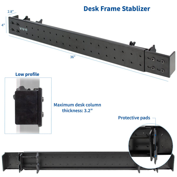 DESK-STB01B  <br><br>Clamp-on Desk Stabilizer