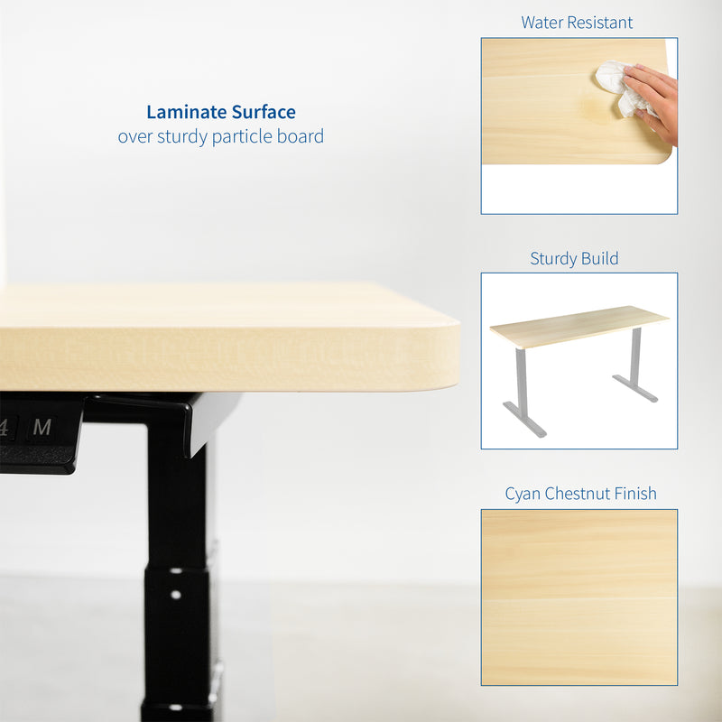 "DESK-TOP43C <br><br>Light Wood 43"" x 24"" Table Top"