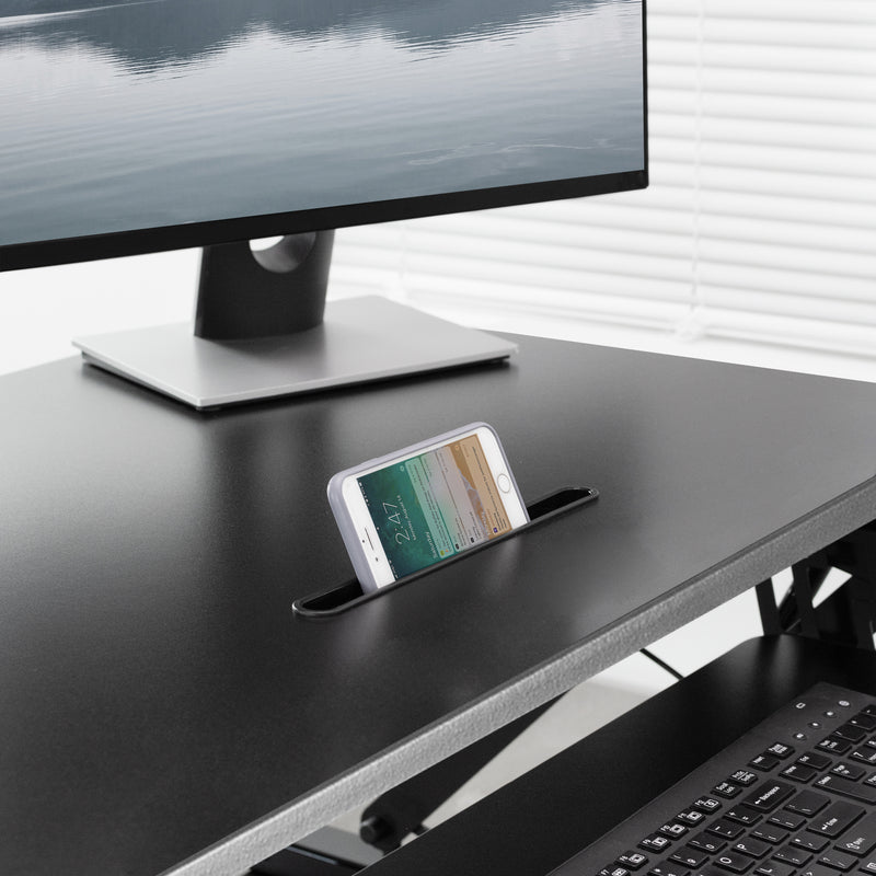 "DESK-V000DB<br><br>Black 36"" Deluxe Desk Riser"