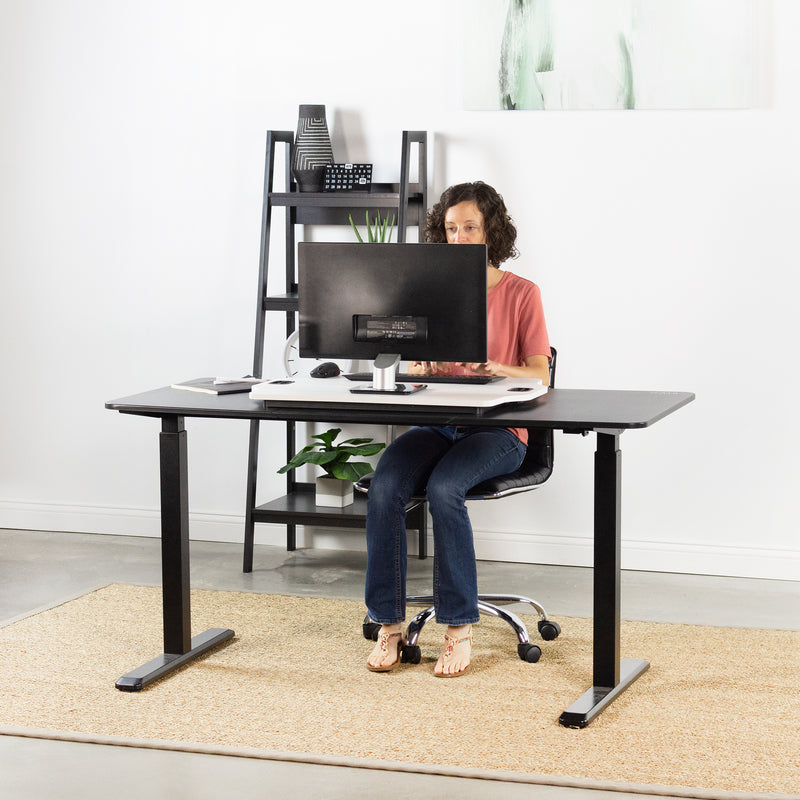 "DESK-V000H<br><br>White 27"" Single Top Desk Riser"