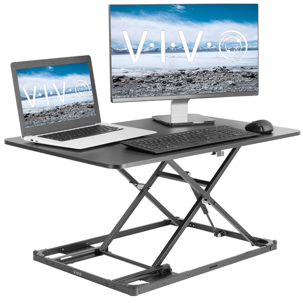 "DESK-V000I <br><br>Black 31"" Single Top Desk Riser"