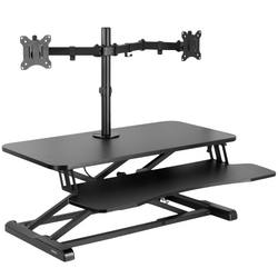DESK-V000K-M2<br><br>Black Desk Riser with Dual Monitor Mount
