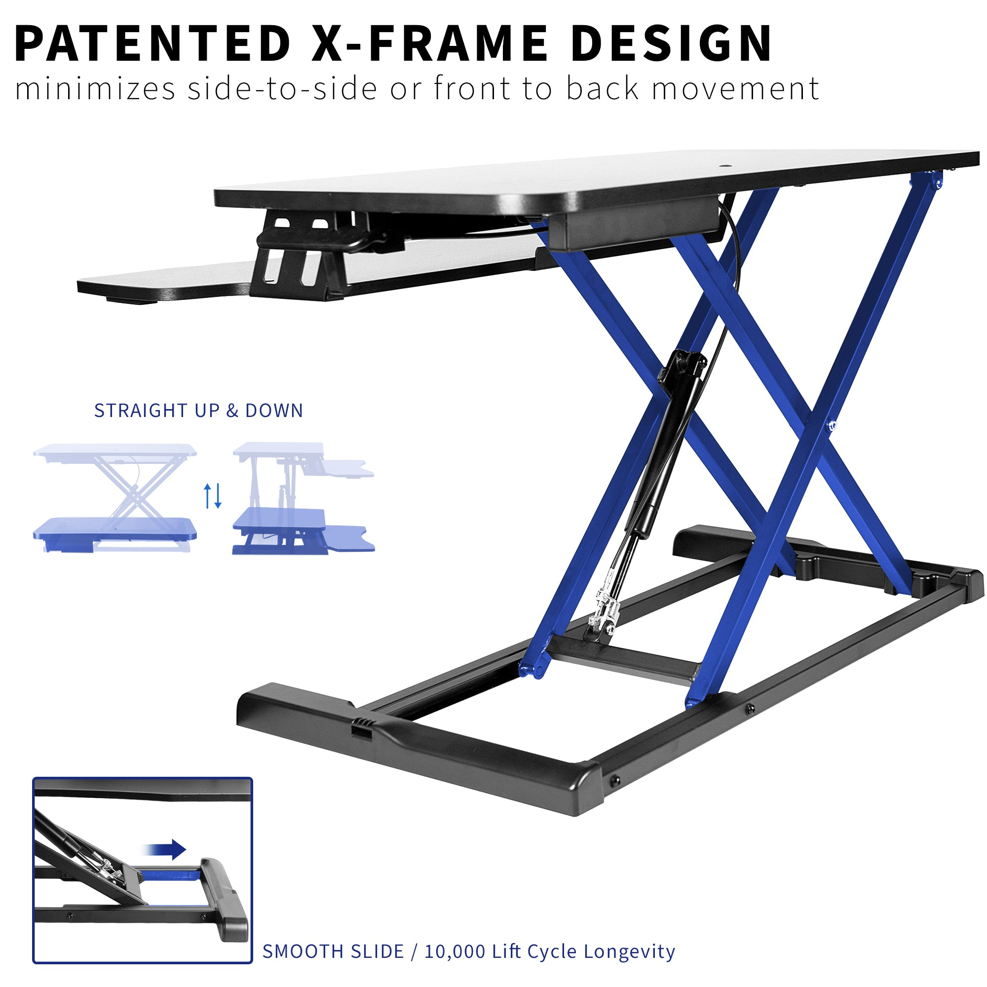 Standing Desk Dual Monitor Riser Sit Stand Workstation