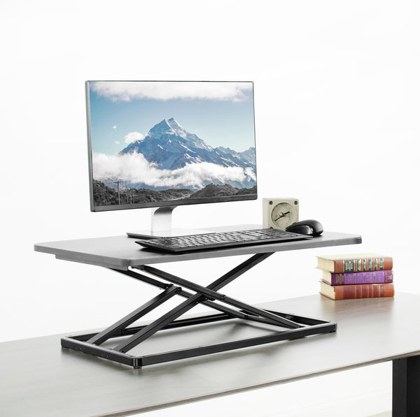 "DESK-V000U <br><br>Black 30"" Single Top Desk Riser"
