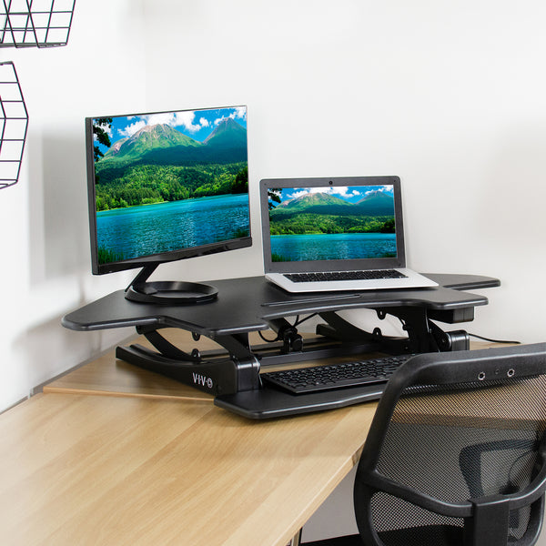 "DESK-V000VCE<br><br>Black 43"" Electric Desk Riser"