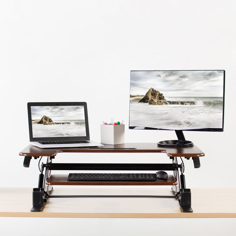 "DESK-V000VD <br><br>Dark Wood 36"" Desk Riser"