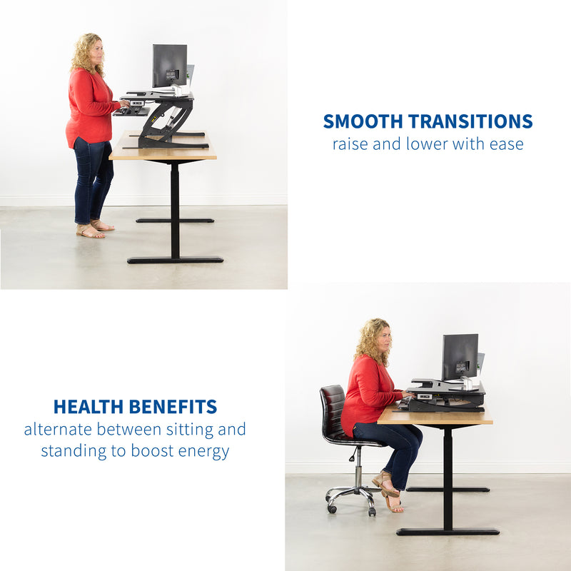 "DESK-V000VLE<br><br>Large 42"" Electric Standing Desk Riser"