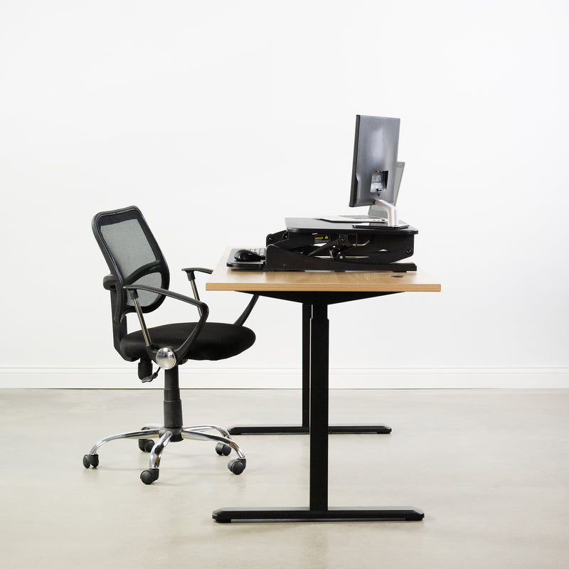 "DESK-V000VS <br><br>Black 32"" Desk Riser"
