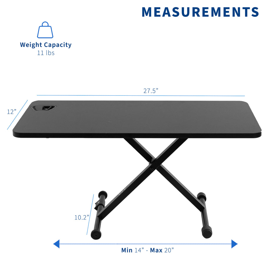 "DESK-V011F <br><br>Black 29"" Single Top Desk Riser"