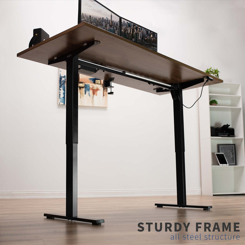 DESK-V100EB <br><br>Black Electric Single Motor Desk Frame