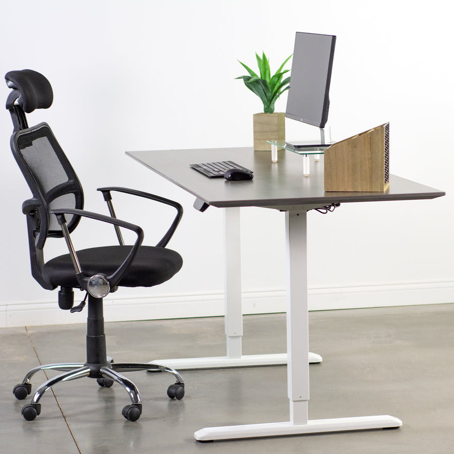 DESK-V102EW <br><br>White Electric Single Motor Desk Frame