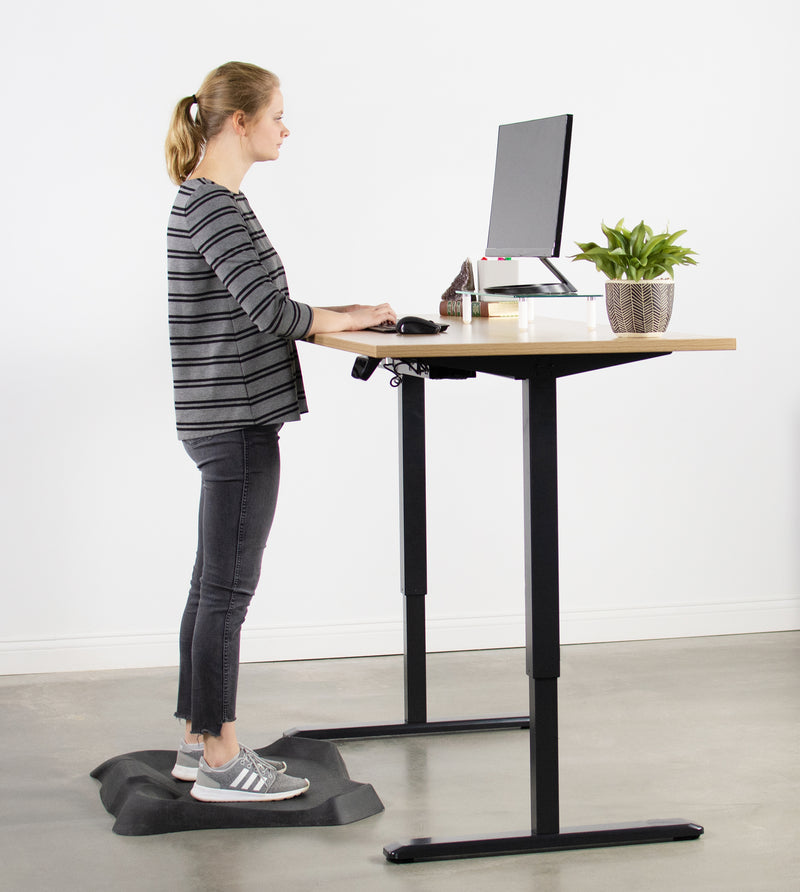 DESK-V102E <br><br>Black Electric Single Motor Desk Frame