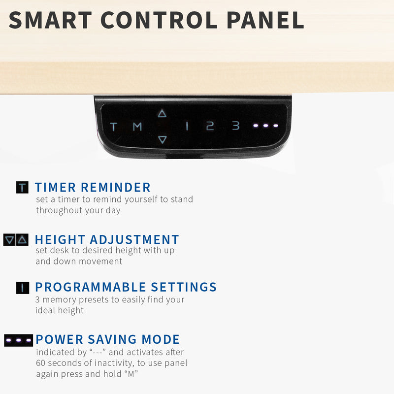 DESK-V103E <br><br>Black Electric Dual Motor Desk Frame