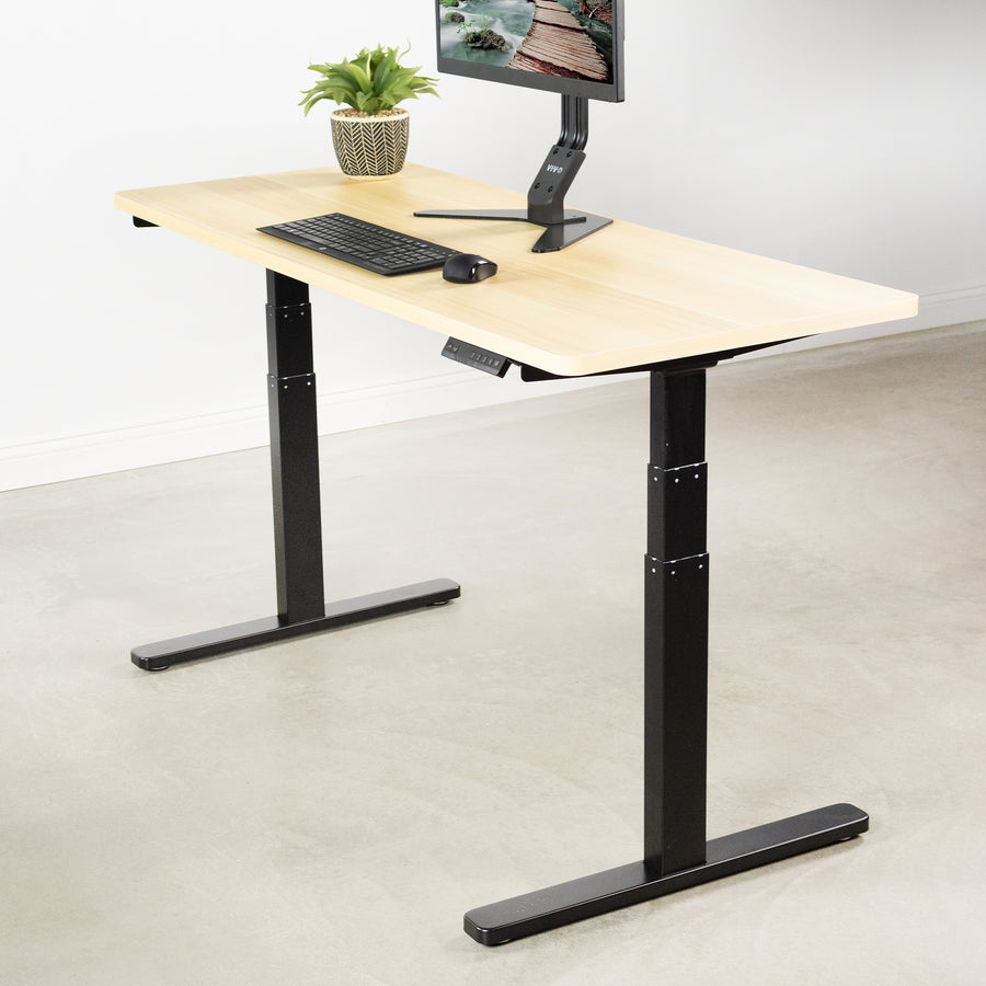 DESK-V120EB <br><br>Black Electric Dual Motor Desk Frame