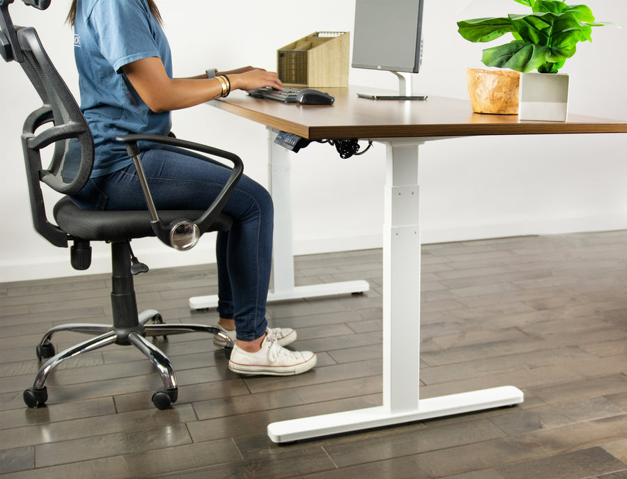 DESK-V120EW <br><br>White Electric Dual Motor Desk Frame