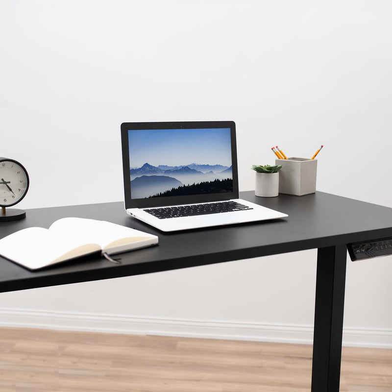 Black Electric Dual Motor Desk Frame