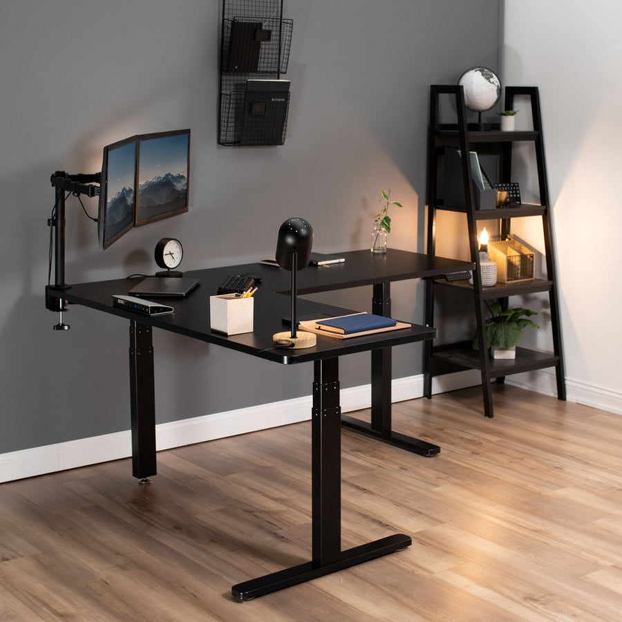 DESK-V130EB<br><br>Black Electric Multi Motor Corner Desk Frame