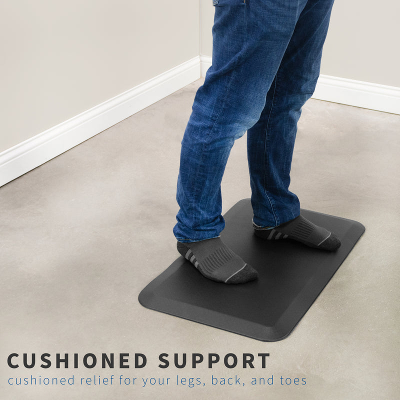 Black Foam Anti-Fatigue Mat for cushioned support