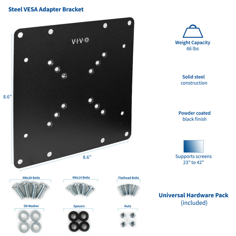 MOUNT-AD2X2<br><br>VESA Monitor Adapter 50x50mm to 200x200mm